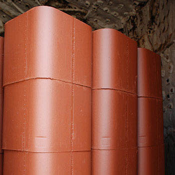 "Mission Clay Flue Liner, 8""x12""x2"
