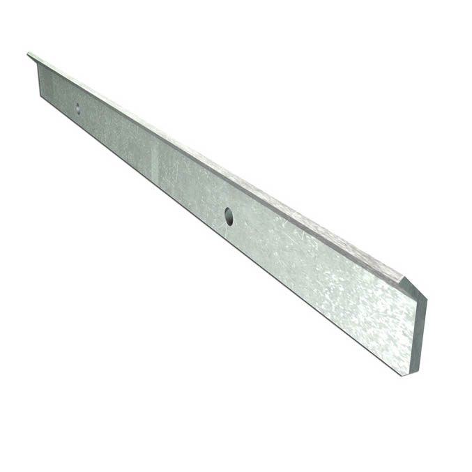 "Hohmann & Barnard T-2 Termination Bar, 26 Gauge, Stainless Steel, 1-1/2""x8"