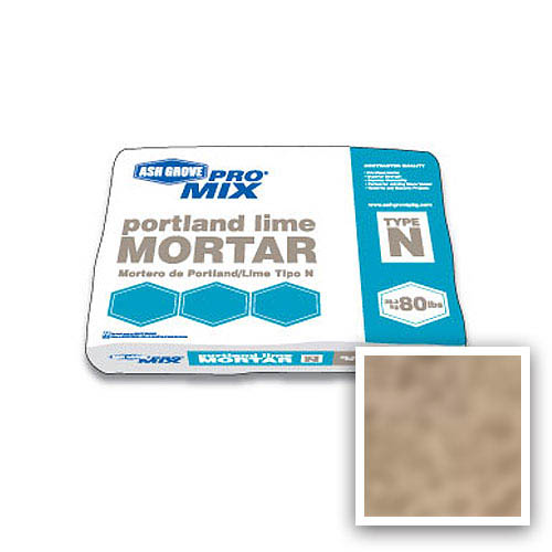 Ash Grove Pro Mix® Mortar Portland/Lime Type N 80-lb., Tan