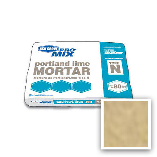 Ash Grove Pro Mix® Mortar Portland/Lime Type N 80-lb., Buff