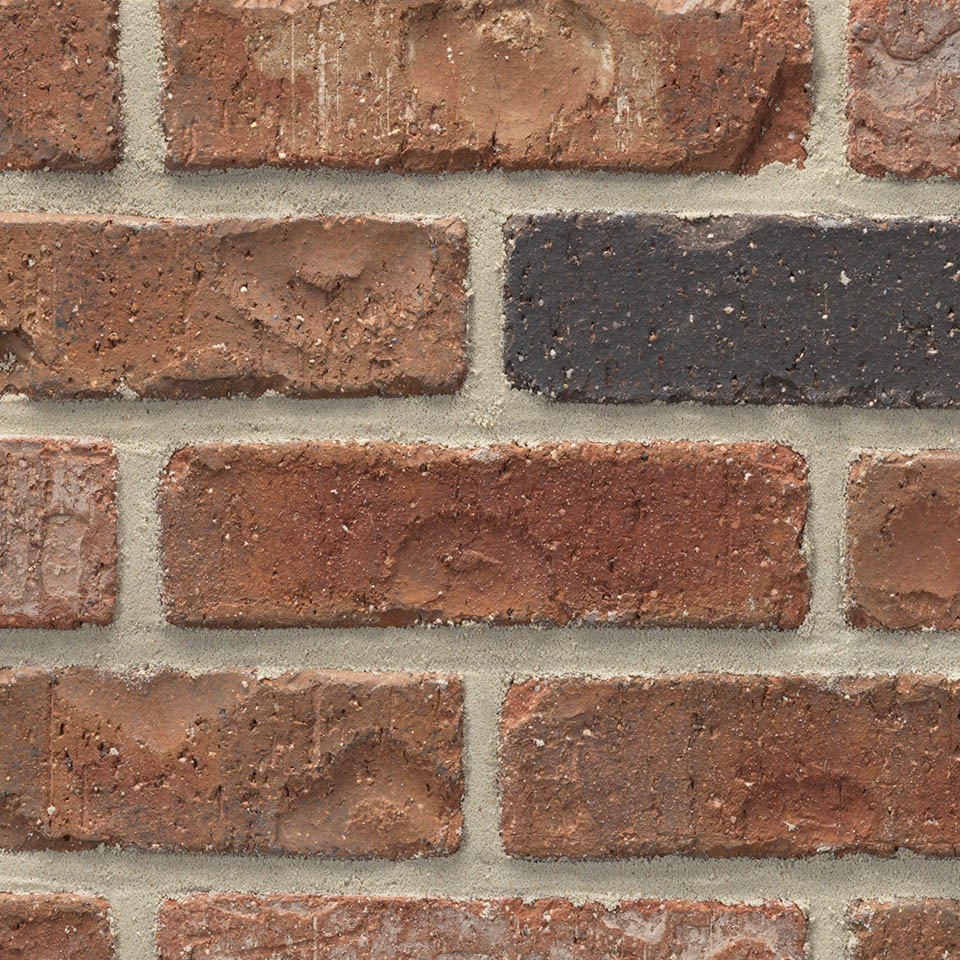 Acme® Brick Denver Red Colorado Modular Brick, Rumbled