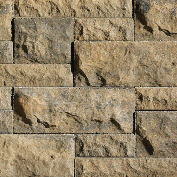 "Anchor® Belair Wall® 2.0™ 6"" Retaining Wall System, Gold Creek"