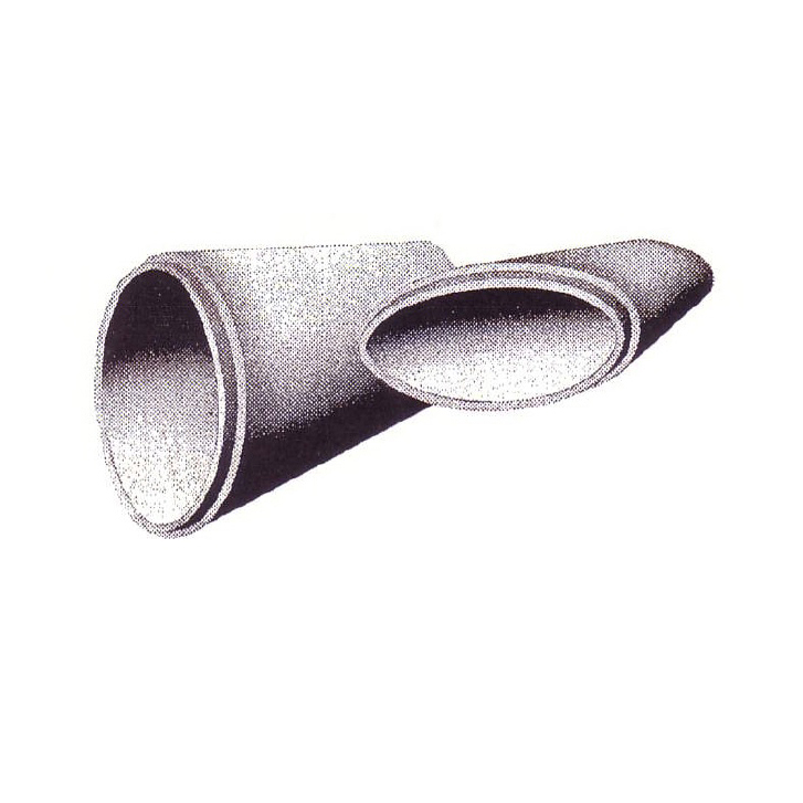 "24"" Equivelent Round Elliptical Concrete Inlet Pipe, Flared End"